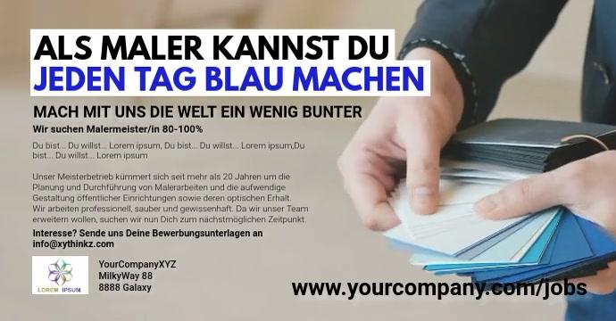 Job Advertisement Painter Banner cover Header Iklan Facebook template