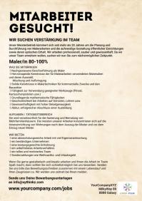 Job Advertisement Template Color Splash Din