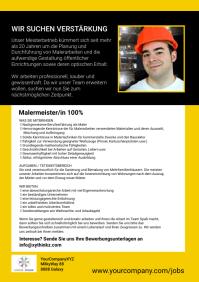 Job Announcement Painter Flyer Advert