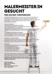 Job Announcement Painter Flyer Din Ad Poster