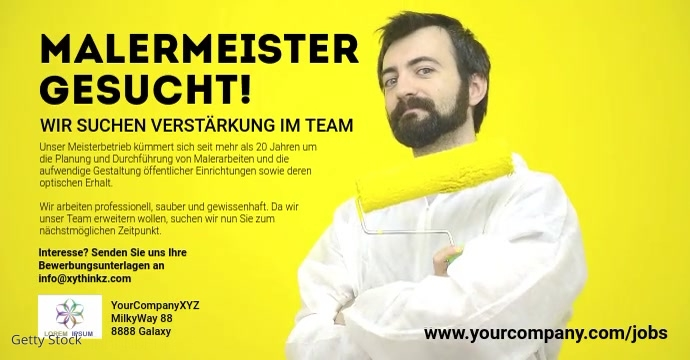 Job announcement Template Banner Cover Header Iklan Facebook