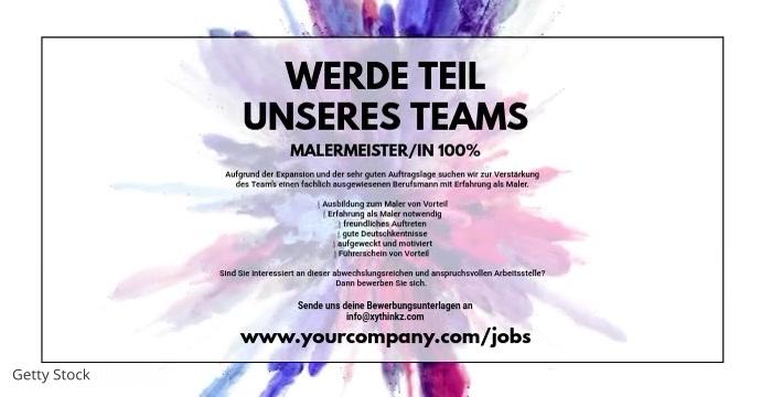 Job announcement Template Banner Cover Header Facebook-advertentie