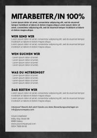 Job announcement Template Flyer Poster Advert