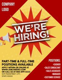 Job Рекламная листовка (US Letter) template