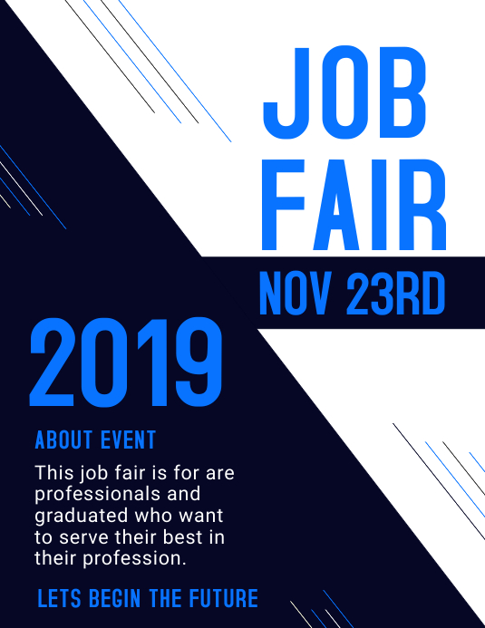 JOB FAIR 2019 TEMPELATE ใบปลิว (US Letter) template
