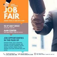 Job Fair Ad Message Instagram template