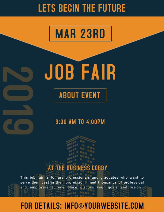 job fair ad template