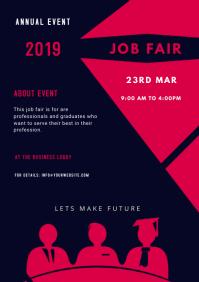 job fair ad template FACEBOOK COVER