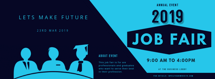 job fair ad template FACEBOOK COVER