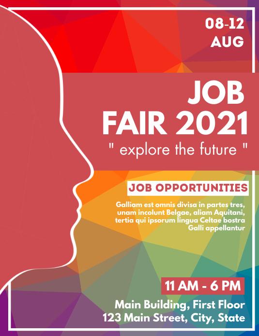 job fair advertisement 2021 Flyer (US Letter) template