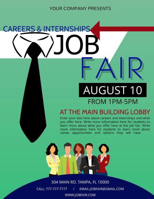Job Fair Pamflet (VSA Brief) template