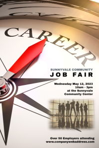 job fair employment opportunities poster template