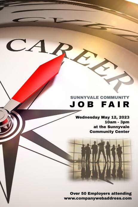 job fair employment opportunities poster template
