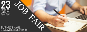 Job Fair Event Facebook Cover Header photo template