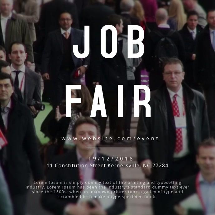 Job Fair Event Poster