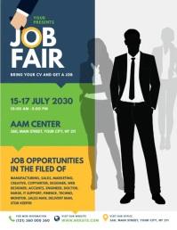 Job Fair Flyer Ulotka (US Letter) template