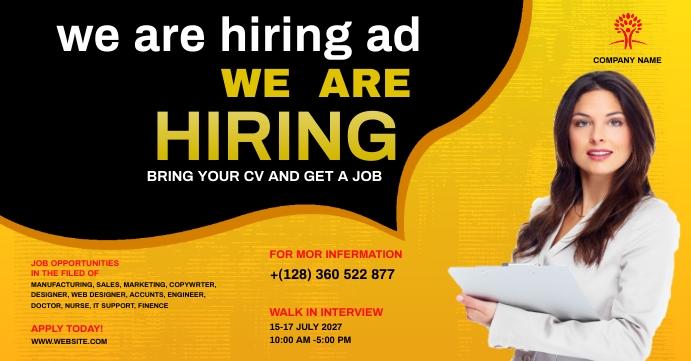 job fair flyer Facebook Event Cover template