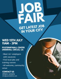 Event flyer templates postermywall for Job fair brochure template