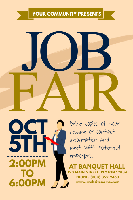 job fair poster template postermywall