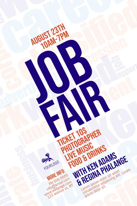 Azure Flyer Template | Plantilla De Job Fair Flyer Template Postermywall