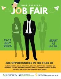 Job Fair Flyer Template Ulotka (US Letter)