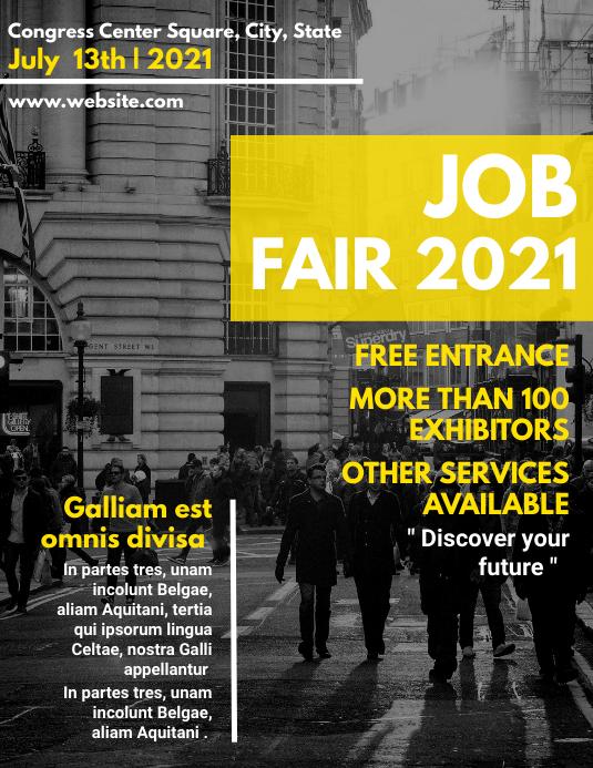 Job fair flyer template ใบปลิว (US Letter)