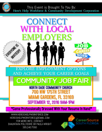 customizable design templates for job fair flyer postermywall