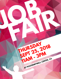 customizable design templates for job fair postermywall