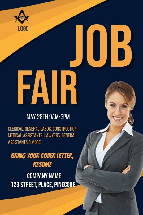 Job Fair Flyer Poster template