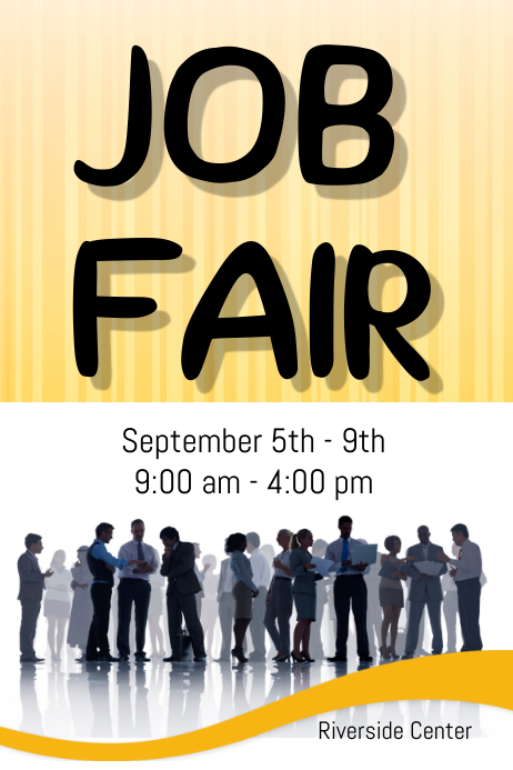 job fair template postermywall