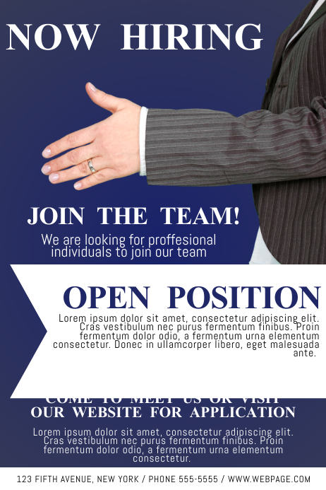 sample of job hiring poster