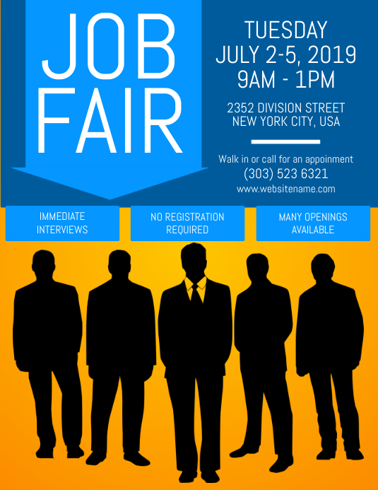 job fair flyer customize template