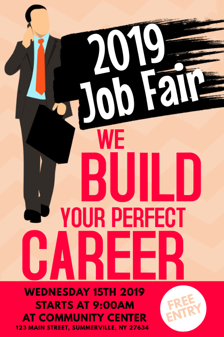 Send Anonymous Text >> Copy of Job Fair Poster | PosterMyWall