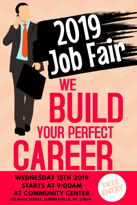 Job Fair Poster โปสเตอร์ template