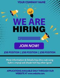 Job hiring,hiring,we are hiring, retail Рекламная листовка (US Letter) template