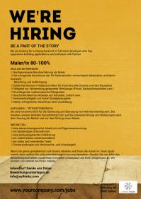 Job Hiring Advertisement Recruitment DIn