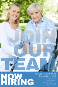 job hiring CNA caregiver Flyer Template