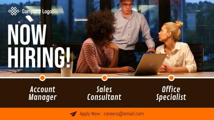 Job Hiring Facebook Cover Video template