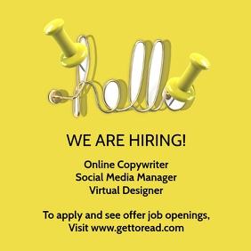 Job Hiring Online Template