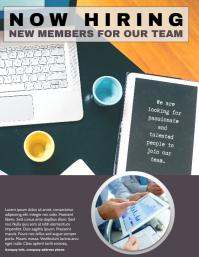Job Hiring Poster for Technology Company Teams