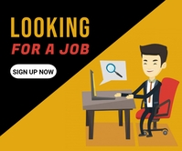 Job opportunity, online ad Grote rechthoek template