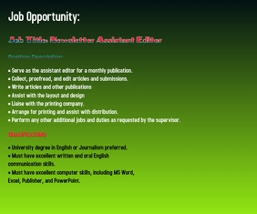 Job Opportunity Mellemstort rektangel template