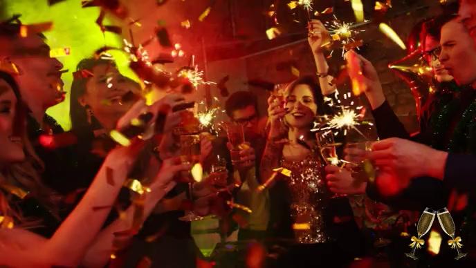 job party celebration video Miniatura do YouTube template