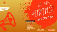 job vacancies YouTube Channel Cover Photo template