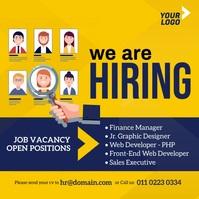 Job Vacancy Ad Publicação no Instagram template