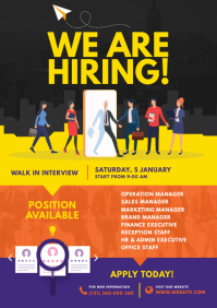 Job Vacancy Flyer A4 template