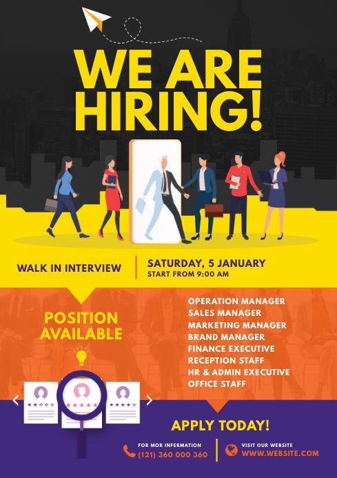 Job Vacancy Flyer A4 template