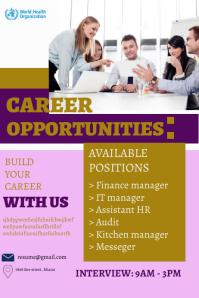 job vacancy flyer template Poster