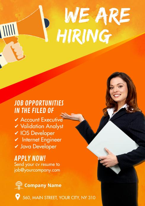Job Vacancy flyers A4 template