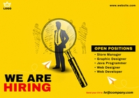 Job Vacancy Postcard template
